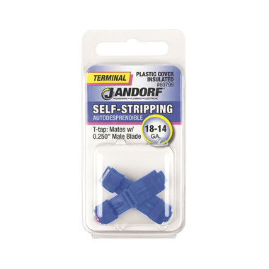 Click here to see Jandorf 60799 Jandorf 60799 Terminal Self-Stripping 18-14 Ga. Plastic Cover Insulated T-tap-Mates w/.250