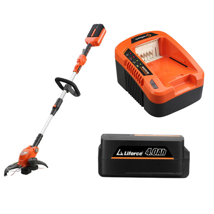 View 2 of Redback E312D-KIT4A Redback 40V Line Trimmer/Edger Kit with Battery and Charger - E312D-KIT4A