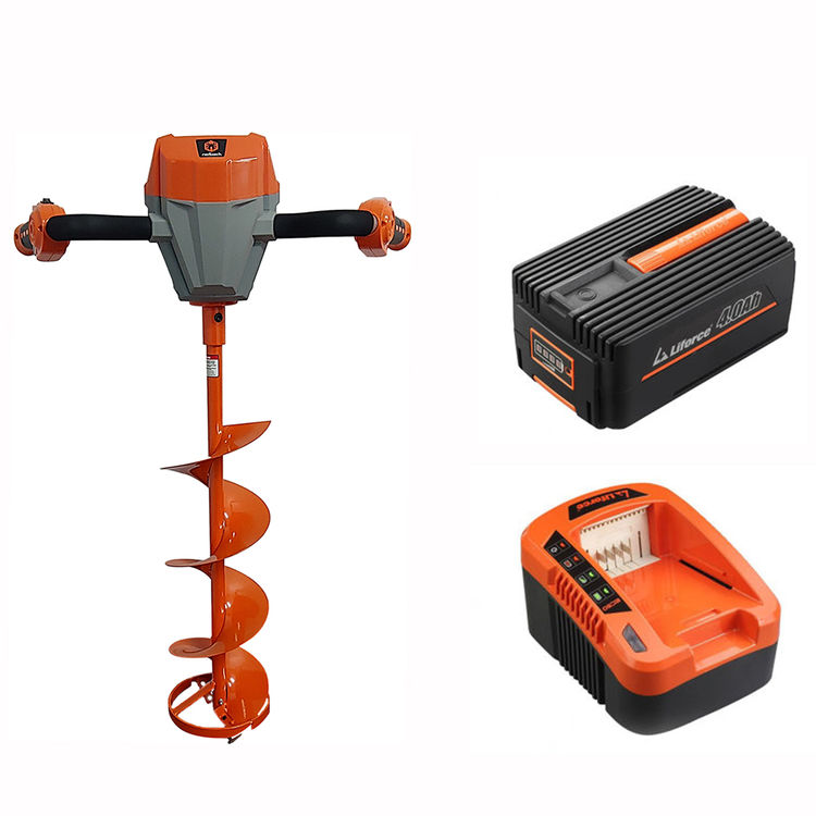 View 2 of Redback E808C-KIT Redback E808C-KIT 40V Ice Auger with 5A Charger & 4AH Battery