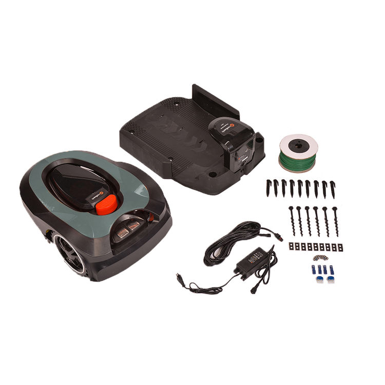View 8 of MowRo RM18-GRAY MowRo RM18-GRAY 28V Robot Lawn Mower with Install Kit and 2.0Ah Battery
