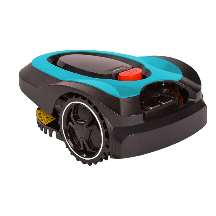 View 3 of   MowRo RM18- BLUE ROBOT LAWN MOWER WITH INSTALL KIT 28 VOLT 2.0AMP BATTERY