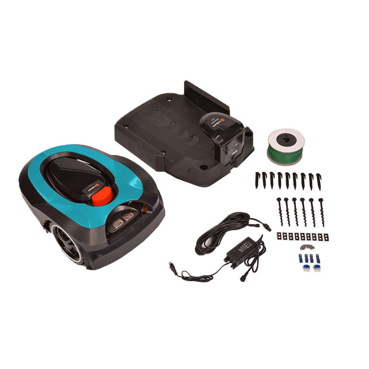 View 9 of   MowRo RM18- BLUE ROBOT LAWN MOWER WITH INSTALL KIT 28 VOLT 2.0AMP BATTERY