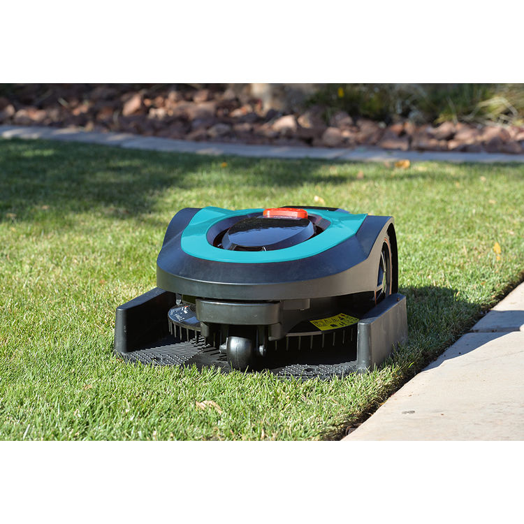 View 10 of   MowRo RM18- BLUE ROBOT LAWN MOWER WITH INSTALL KIT 28 VOLT 2.0AMP BATTERY
