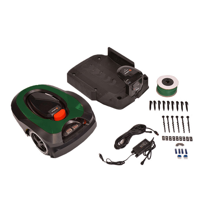 View 8 of MowRo RM18-GREEN MowRo RM18-GREEN 28V Robot Lawn Mower with Install Kit and 2.0Ah Battery