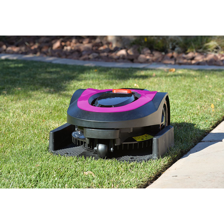 View 10 of   MowRo RM18- PINK ROBOT LAWN MOWER WITH INSTALL KIT 28 VOLT 2.0AMP BATTERY