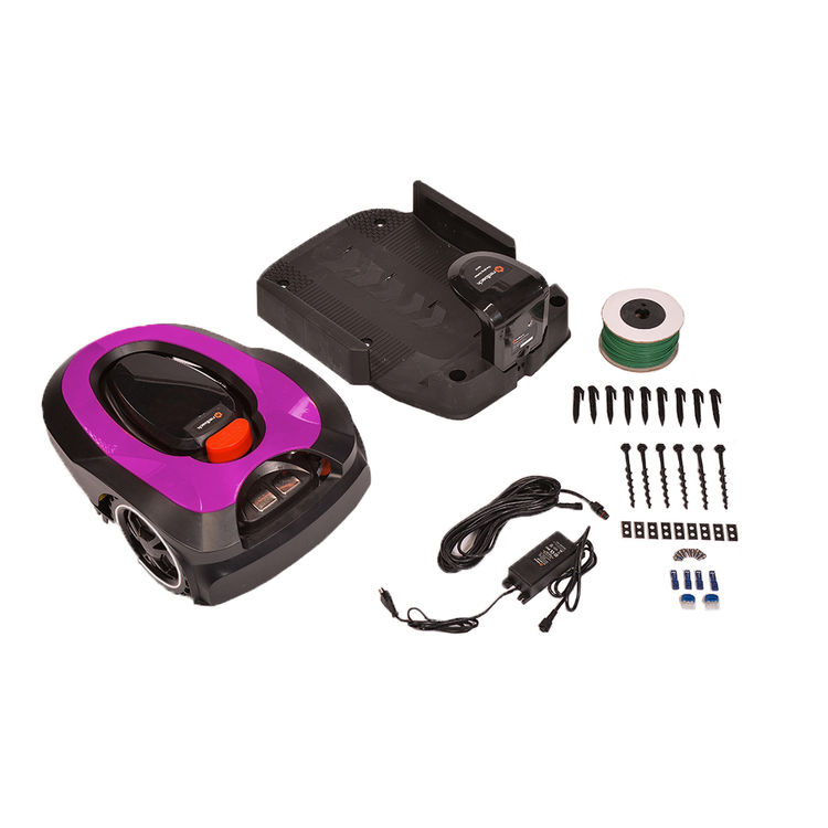 View 9 of   MowRo RM18- PINK ROBOT LAWN MOWER WITH INSTALL KIT 28 VOLT 2.0AMP BATTERY