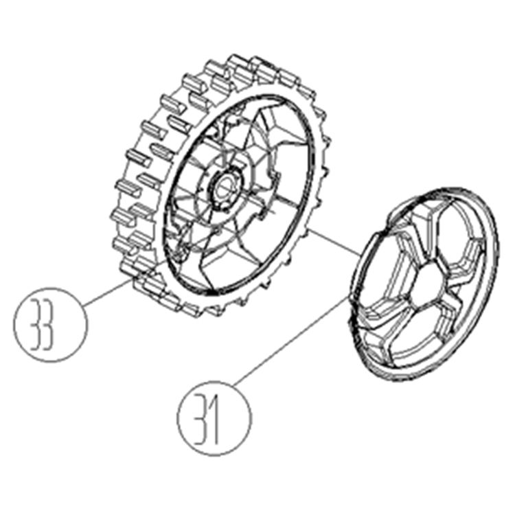 View 8 of MowRo RM24A-07 MowRo RM24A-07 Replacement Wheel Assembly for RM24