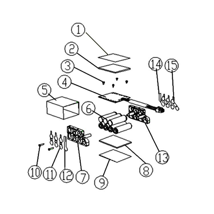 View 3 of MowRo EPR20 MowRo EPR20 28 Volt 2.0A Battery for Robot Lawn Mower