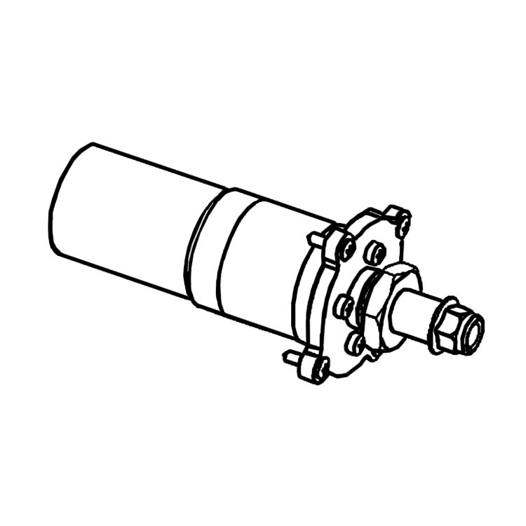 View 2 of MowRo RM18-08 MowRo RM18-08 Driving Motor Assembly for RM18
