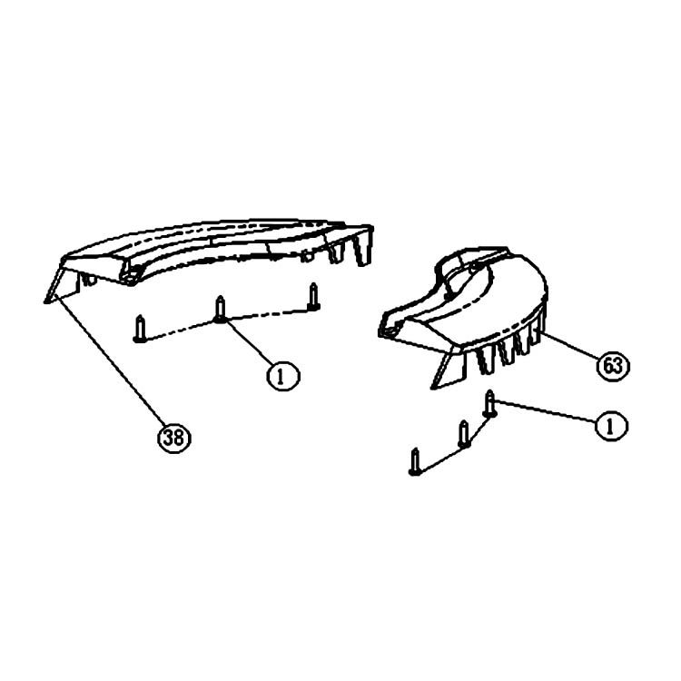 MowRo RM18-13 MowRo RM18-13 Comb Board Assembly for RM18