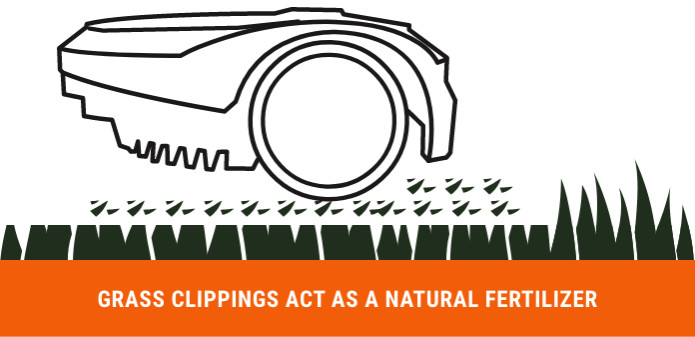 An infographic showing how the grass clippings act as a fertilizer
